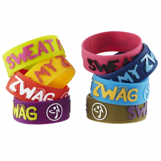 Sweat My Zwag Wide Bracelets - 8 Pack