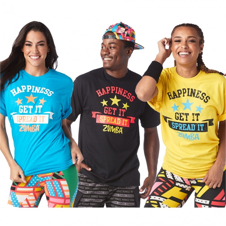 Zumba Happiness Tees 6 PK