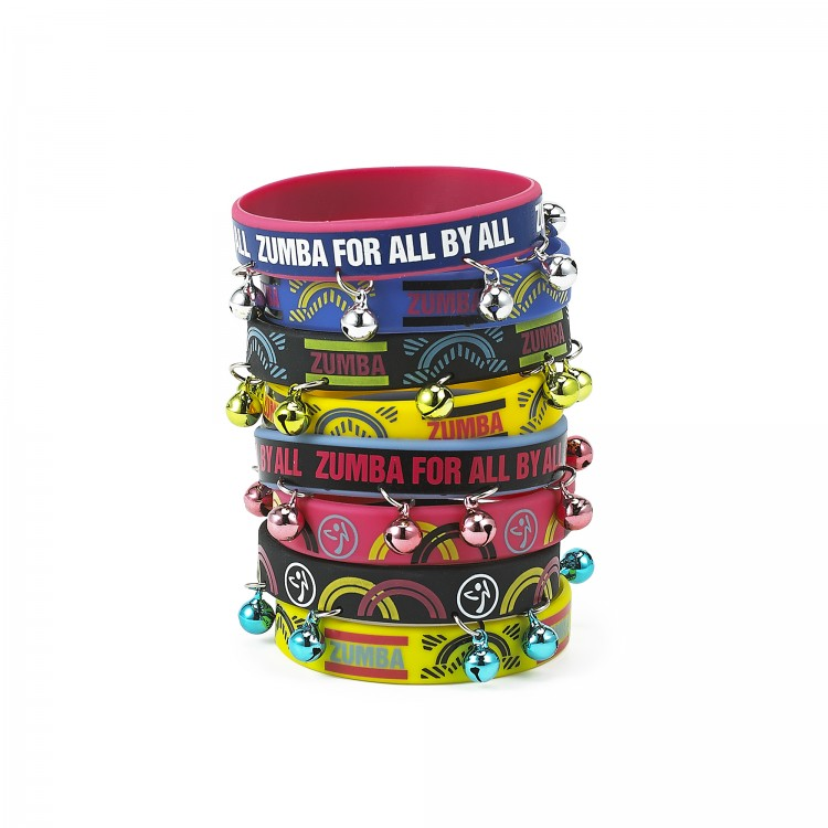Zumba For All Rubber Bracelets 8 PK
