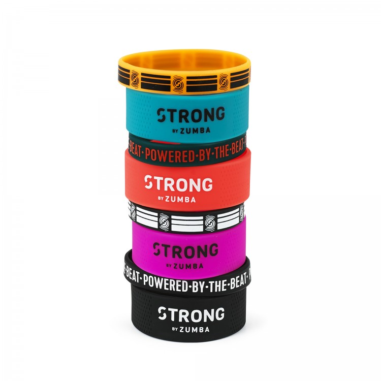 Powered By The Beat Rubber Bracelets 8 PK - ELÕRENDELÉS