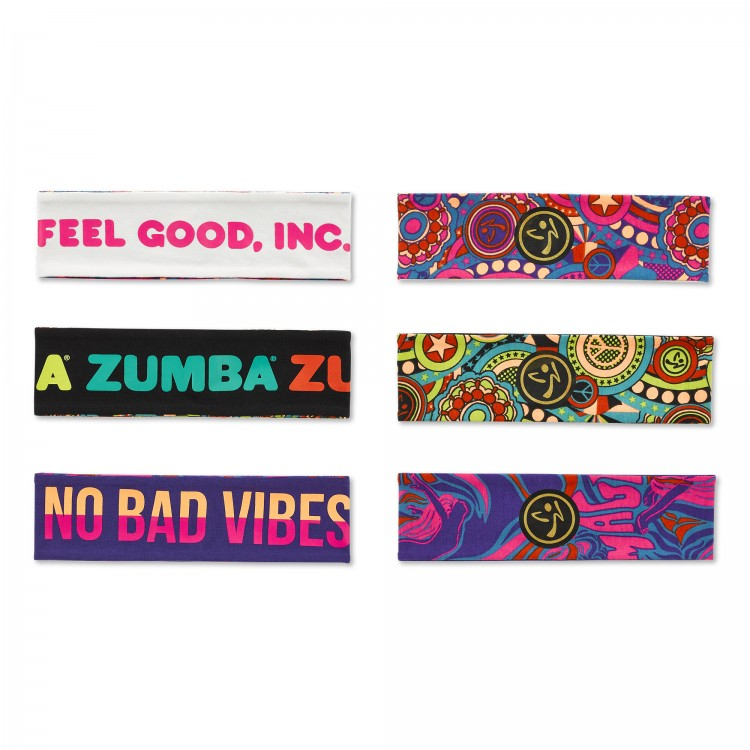 Zumba Groovy Headbands 3 PK