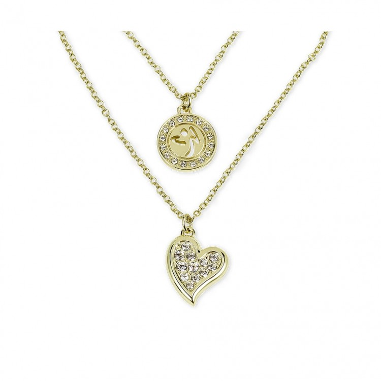 Zumba Love Double Layer Necklace With Swarovski Crystals