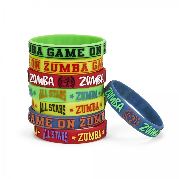 Zumba Game On Rubber Bracelets 8 PK