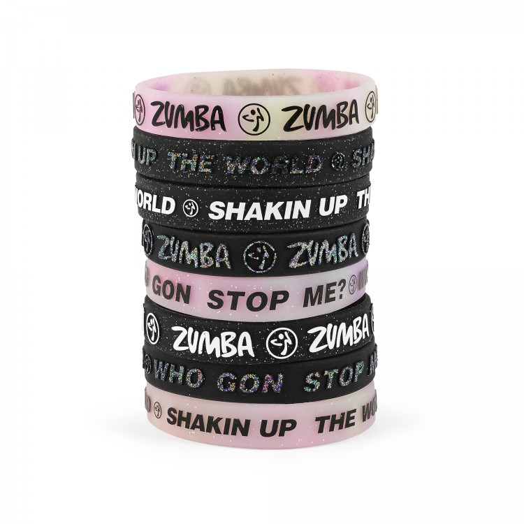 Zumba Power Rubber Bracelets 8 PK
