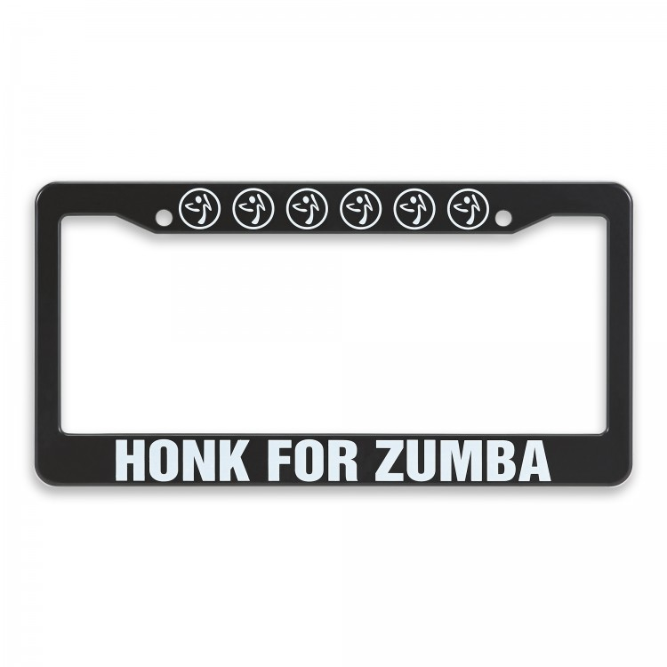 Honk For Zumba License Plate Cover