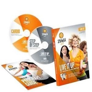 Zumba Gold LIVE IT UP - 2 - DVD Set
