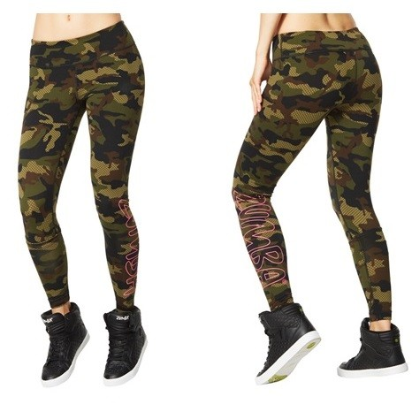 Zumba Camo Perfect Long Leggings - RELOADED