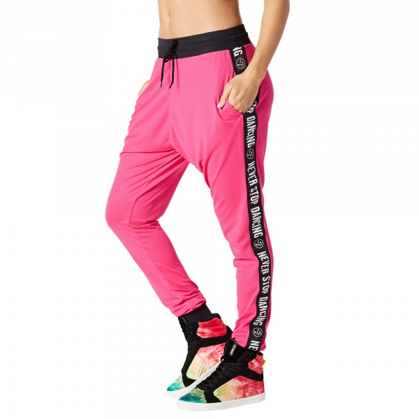 When The Sun Goes Down Mesh Jogger Pants
