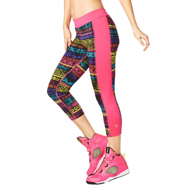 Lets Escape Capri Panel Leggings