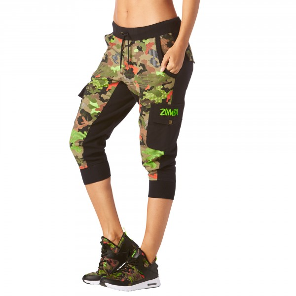 Club Camo French Terry Cargo Capris