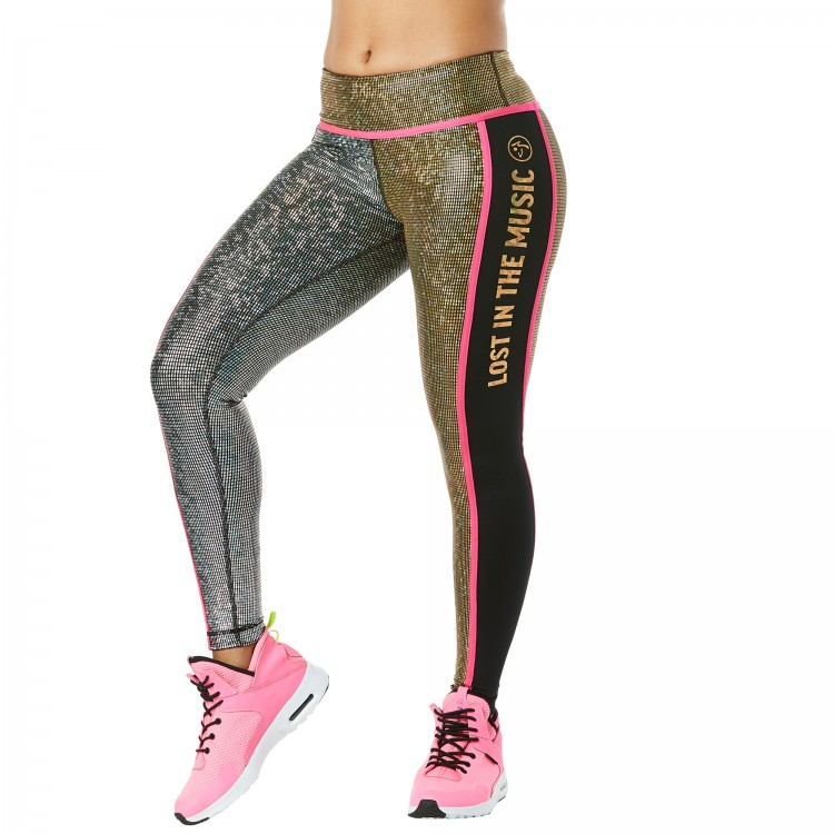 Light Up The Dance Floor Ankle Metallic Leggings