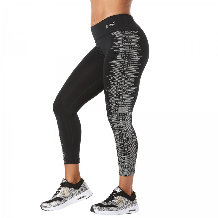 Slay All Day Reflective Crop Leggings