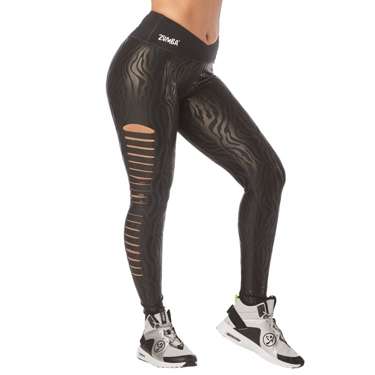 Zumba Happiness Slashed Ankle Leggings