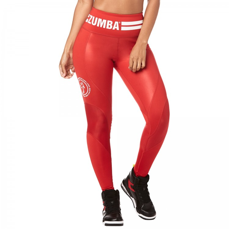 Zumba Varsity High Waist Ankle Leggings