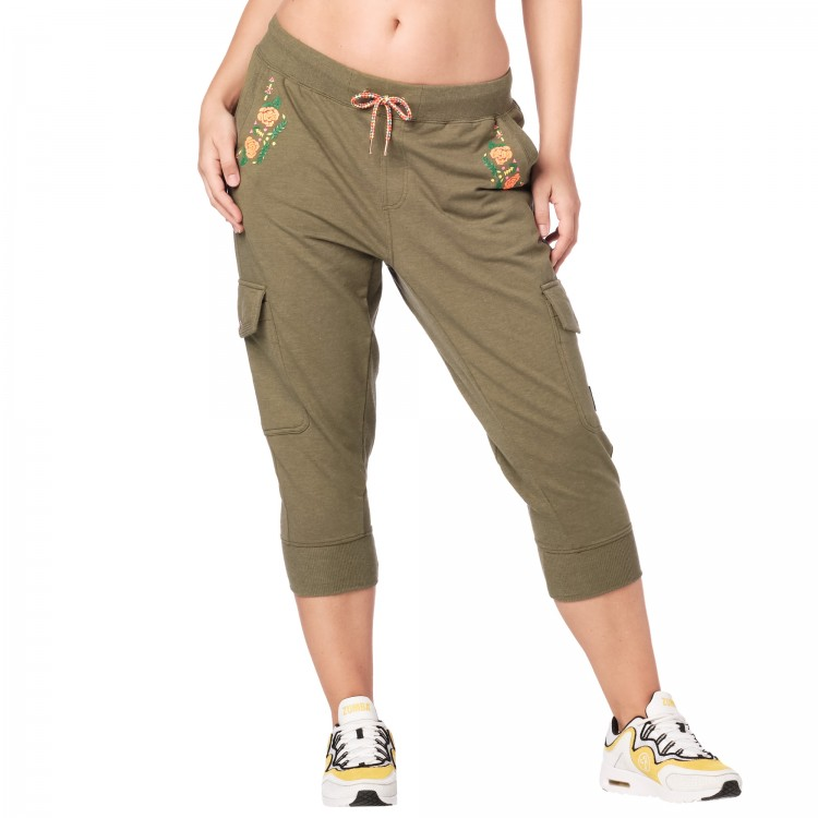 Zumba Mix It Up Cargo Capri Sweatpants