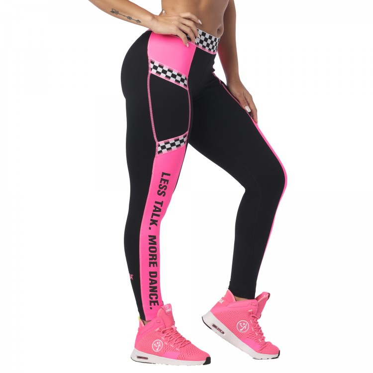 Less Talk More Dance Printed Ankle Leggings