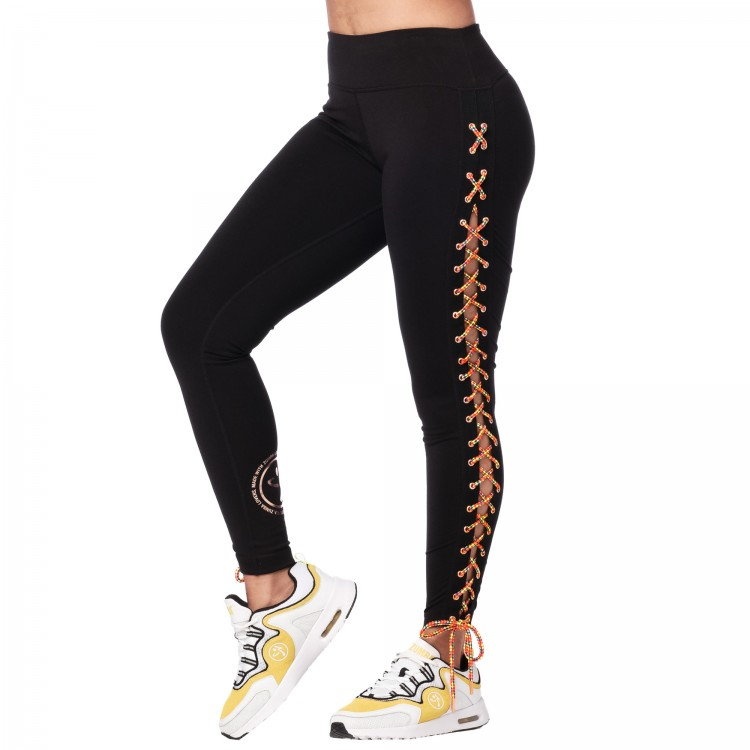 Zumba Mix It Up Laced Up Ankle Leggings
