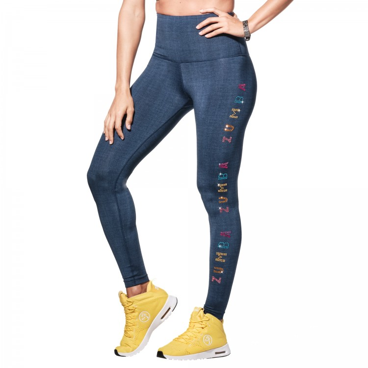 Zumba Sparkle Ankle Leggings With Swarovski Crystals