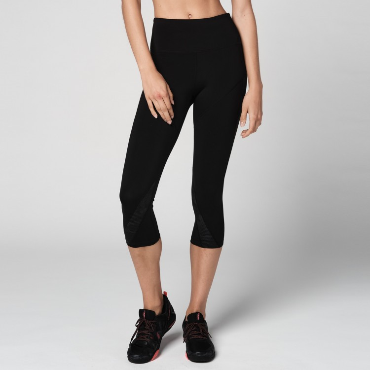 Reflective High Waisted Mesh Capri Leggings - ELÕRENDELÉS
