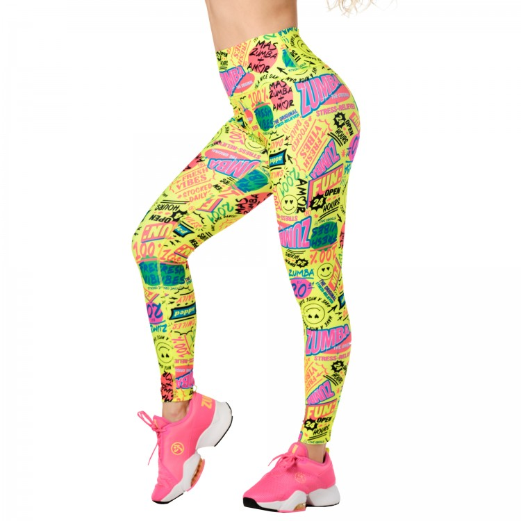 Zumba Fresh Vibes High Waisted Ankle Leggings