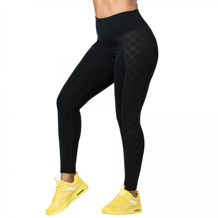 Zumba Smile High Waisted Ankle Leggings