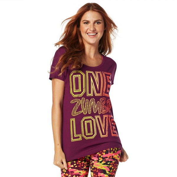 One Zumba Love Hi Lo Hem Tee