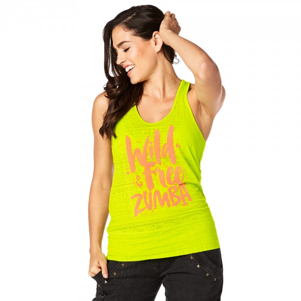 Wild About Zumba Burnout Bubble Tank