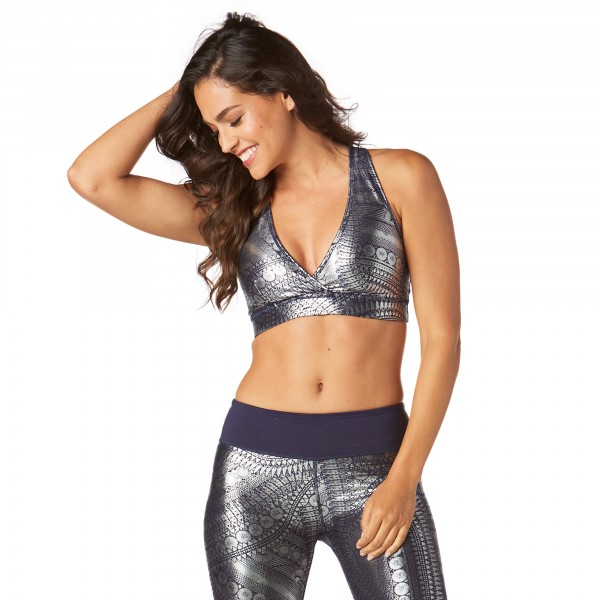 Zumba All Night Metallic V Bra