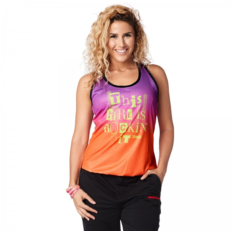 Zumba Rockin It Bubble Tank