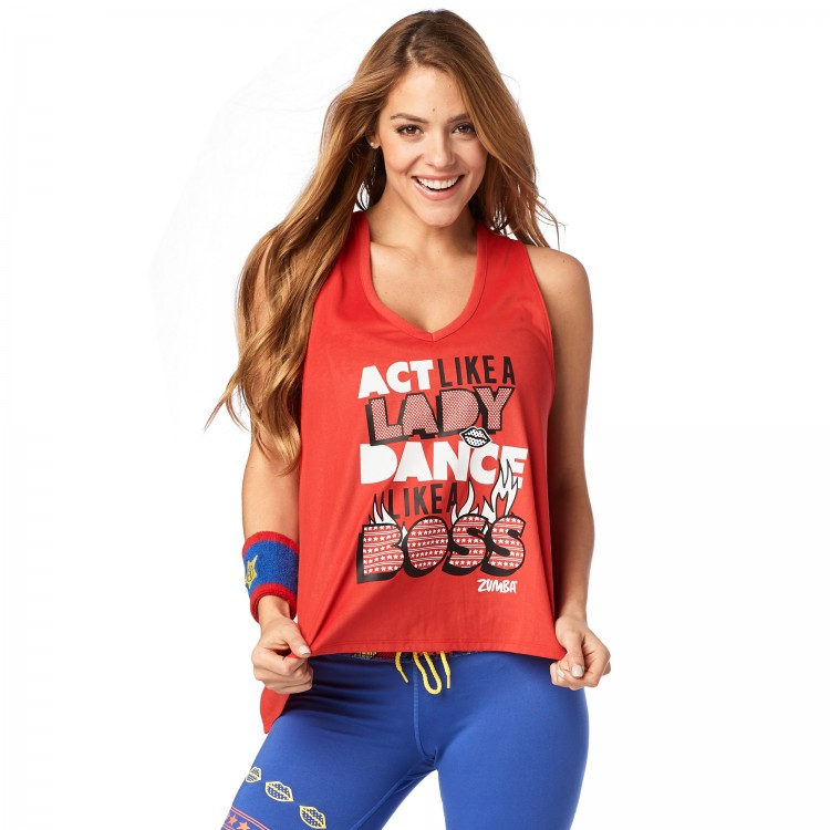 Dance Like A Boss Open Back Tank