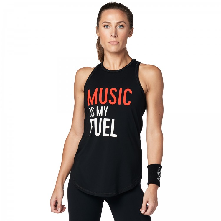 Music Is My Fuel Tight Tank - ELÕRENDELÉS