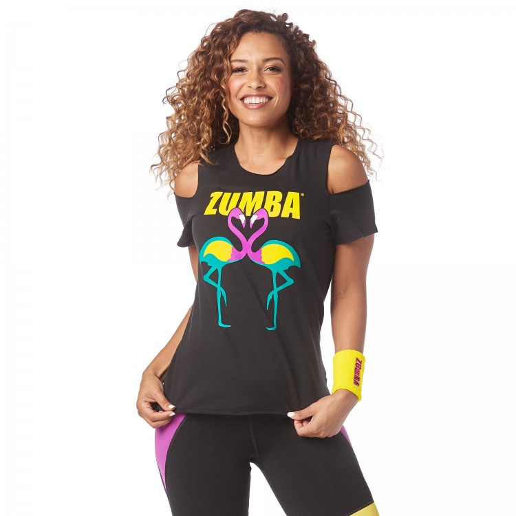 Zumba Happiness Cold Shoulder Top