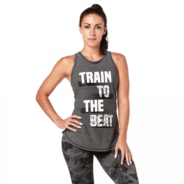 Train To The Beat High Neck Tank -ELÕRENDELÉS