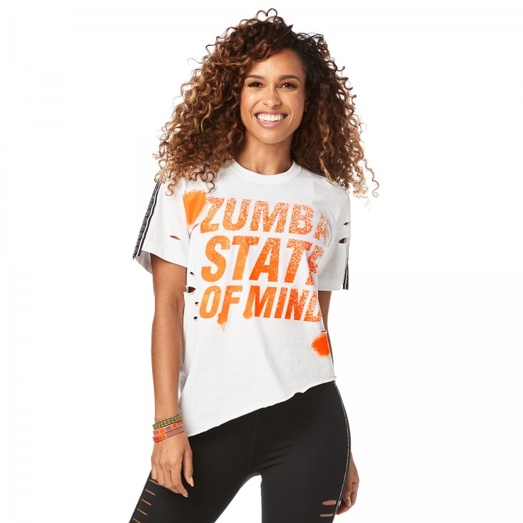 Zumba State Of Mind Ripped Tee