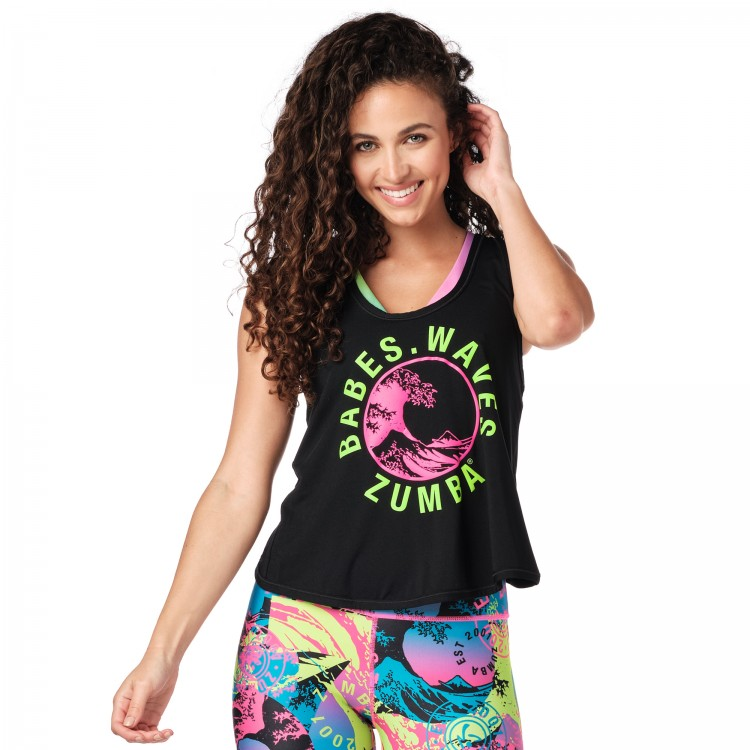 Babes Waves Zumba Open Back Tank