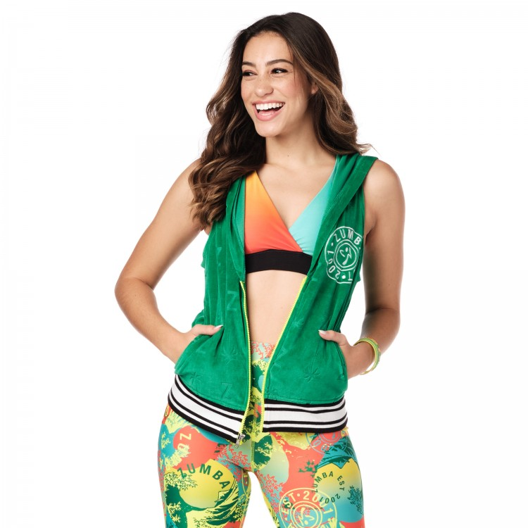 Zumba Original Sleeveless Zip-Up Hoodie