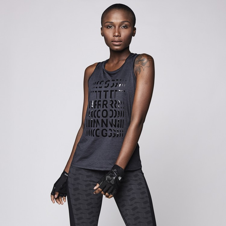 Cut Out Knit Power Tank