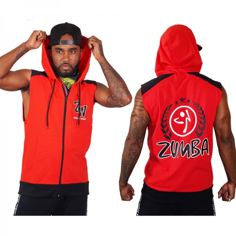 Zumba Wear Mens Sleeveless Hoodie